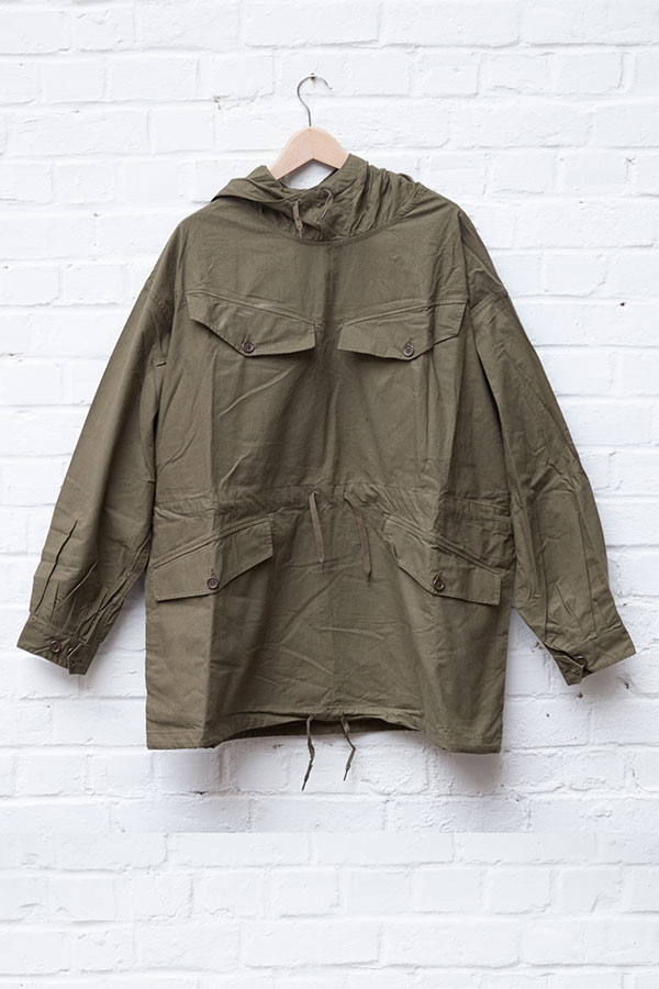 Deadstock 1950's french army kaki smock
