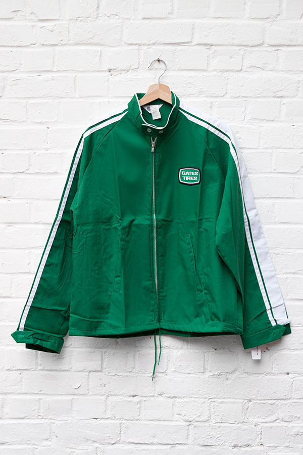 1960's deadstock US nylon green sport jacket