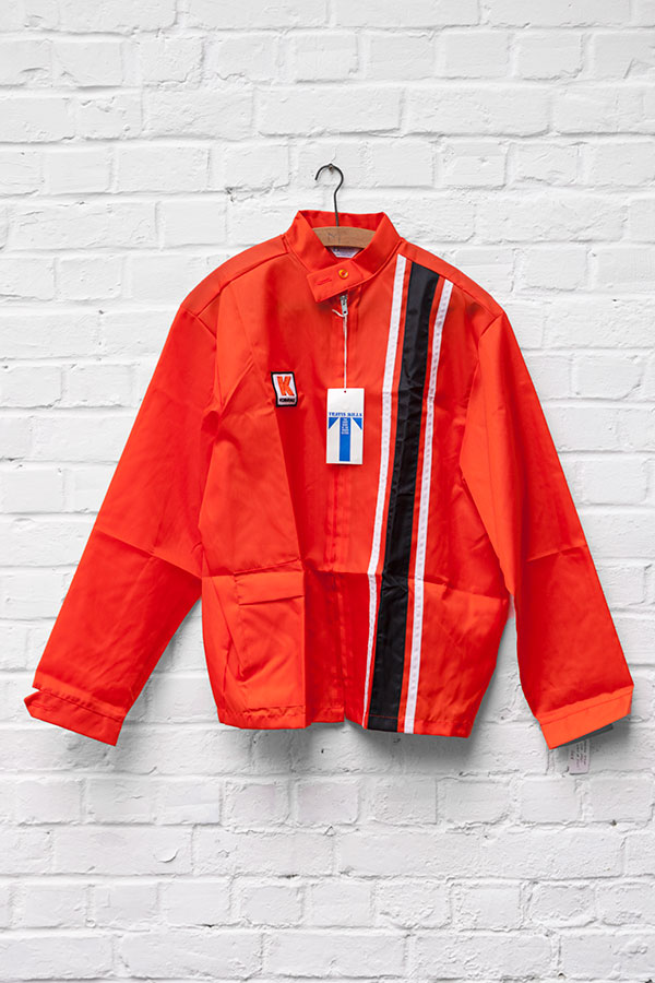 1960's deadstock US nylon orange sport jacket