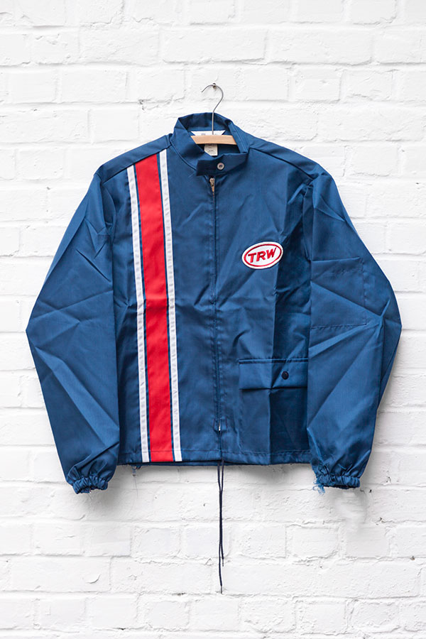 1960's deadstock US nylon blue TRW sport jacket