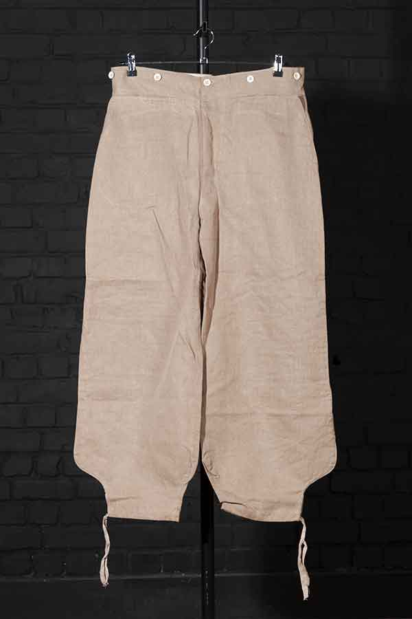 1950's french army raw linen sarouel work pants