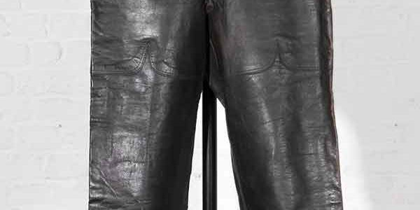 1930's french Belle Jardiniere Paris leather pants