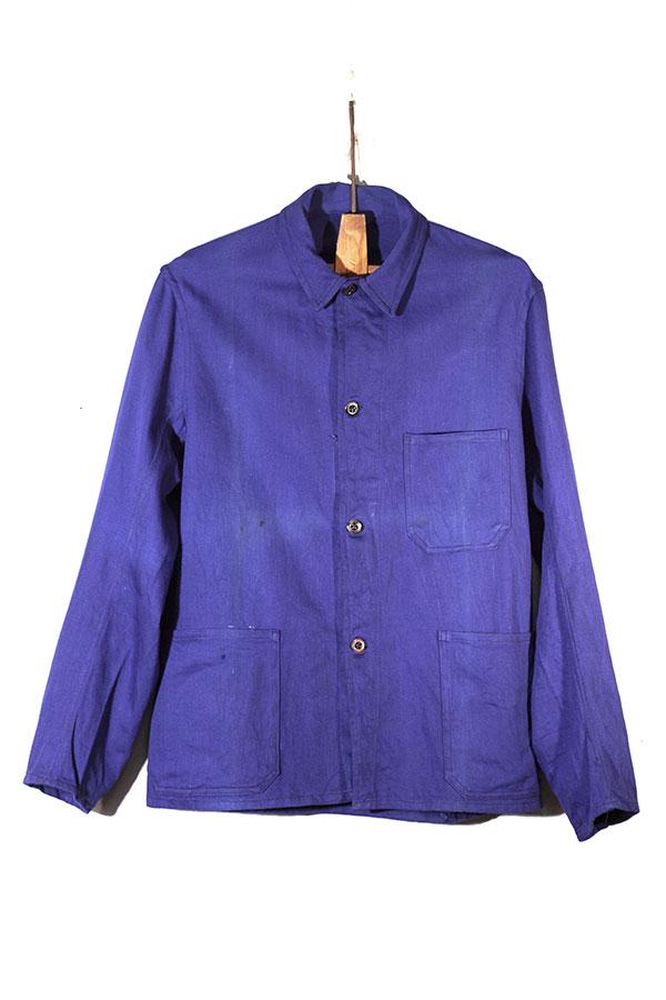 1930's belgian deadstock indigo chore jackets