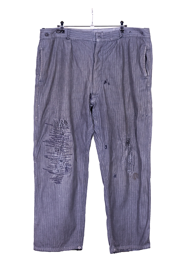 1940's herringbone chambray work pants