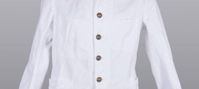 1930's french fireman white work jacket