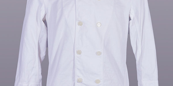 1950's Marine Nationale double-breasted white linen jacket
