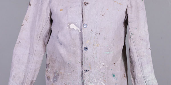 French raw linen bourgeron 1895 pattern