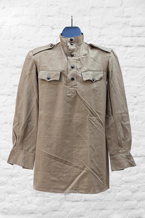 1950's deadstock linen army shirt
