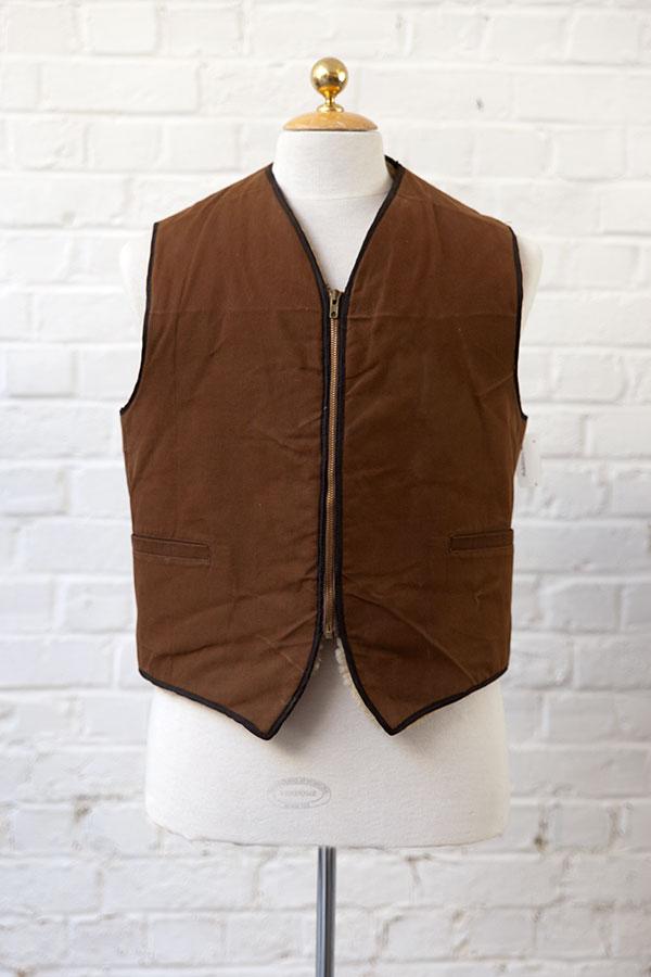 1950's deadstock mouton vest
