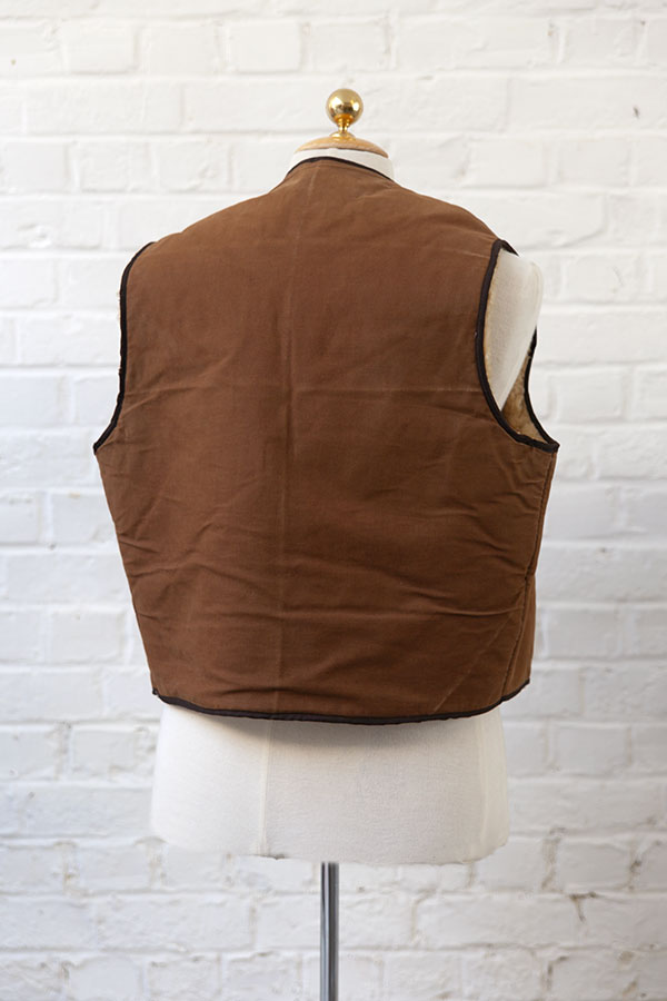 1950's french cachou mouton vest