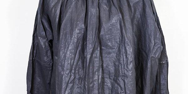 1900's french coated indigo linen smock (biaude)