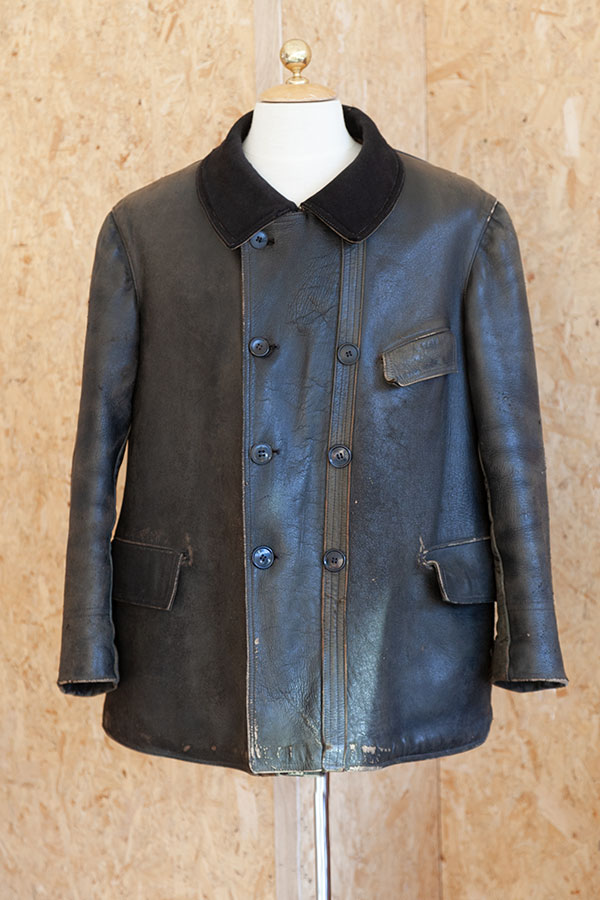 1930's Conchon-Quinette leather work coat
