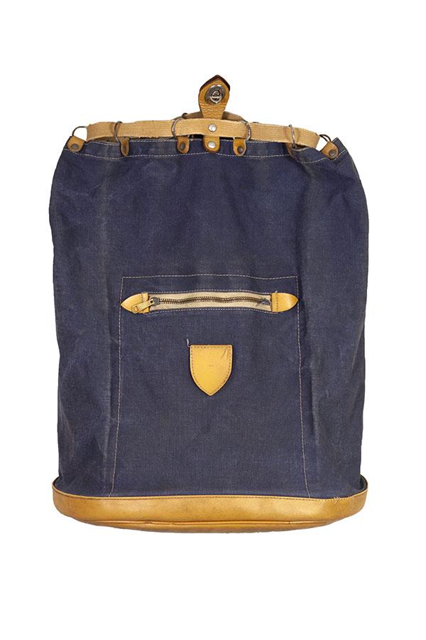 1950's small Lafuma indigo backpack