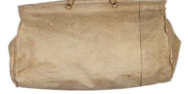 1930's french canvas travel handbag
