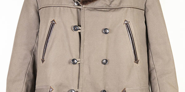 1950's french grey canvas canadienne jacket