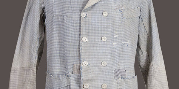 1930's french double-breasted butcher jacket