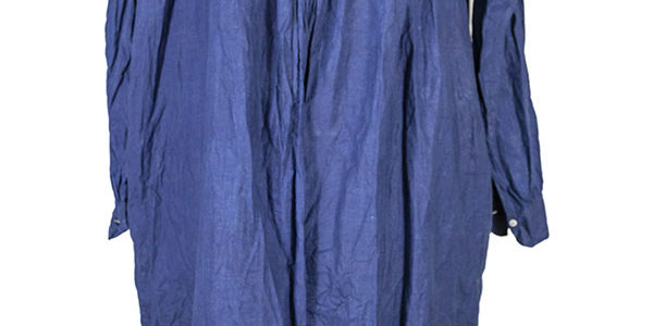 1920's french indigo linen smock (biaude)