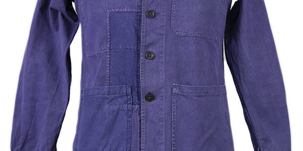 1950's patched french cotton/linen hbt work jacket