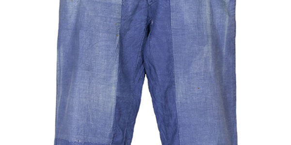 1930's french patched & mended moleskin work pants