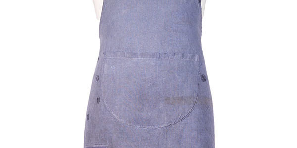 1930's french indigo linen work apron