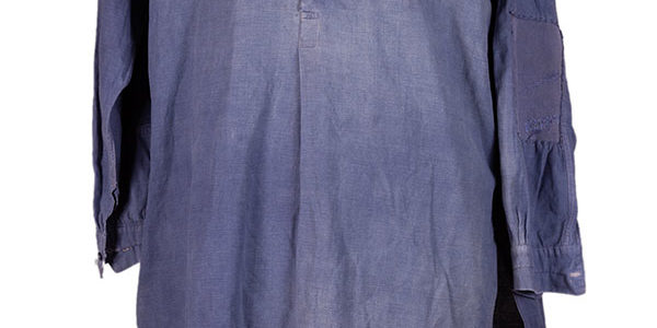 1930's french indigo linen work smock/ shirt