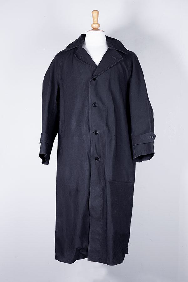 1940's french Samoc waterproof serge long coat