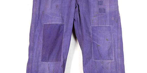 1950's french indigo cotton work pants
