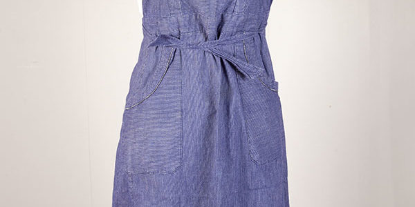 1930's printed linen work apron