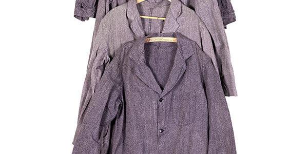 1950's french salt & pepper chambray atelier coats