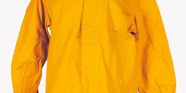 1950's french SNCF (railway) yellow linen jacket