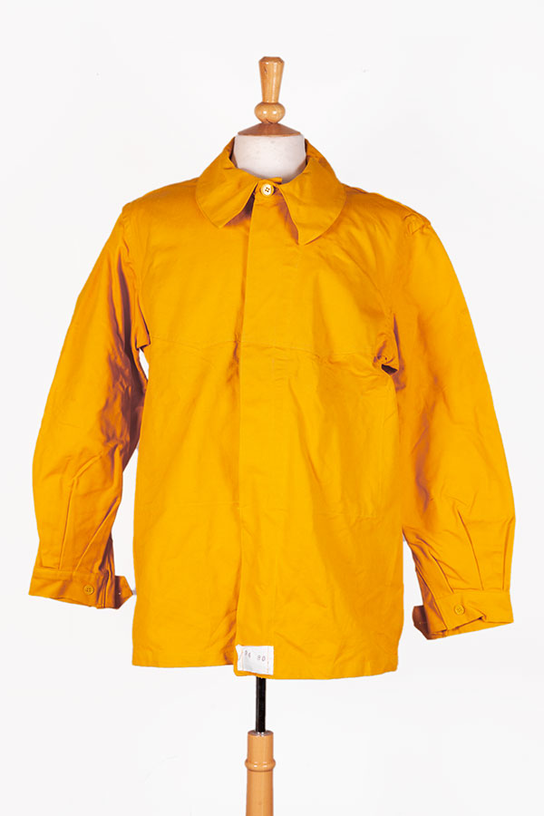 1950's french SNCF (railway) yellow linen jacket, lemagasin, le magasin