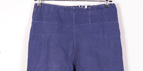 1940's indigo linen men's shorts