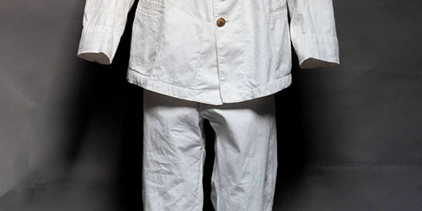 Early 1900's french army colonial linen suit