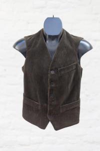 1950's french deadstock l'Alpin cord vest