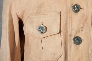 1930's Adolphe Lafont linen hunting suit