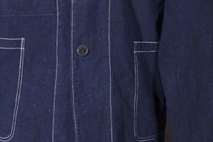 1950's l'Anti Cher (Shanghai) indigo linen chore jackets