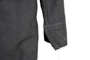 1950's french black linen work coat