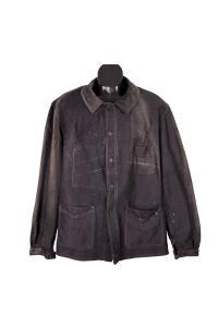 1940's french black work chore jacket, Le Magasin