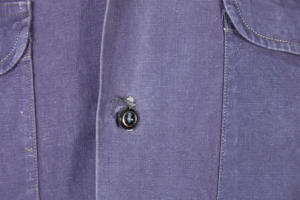 1950's french indigo linen military shirt, lemagasin, le magasin