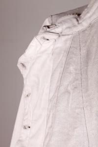1930's french linen fencing jacket, le magasin, lemagasin, vintage clothing