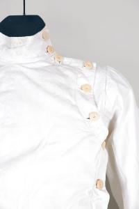 1920's french linen fencing jacket