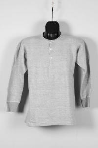1950's french grey cotton henley, lemagasin, le magasin