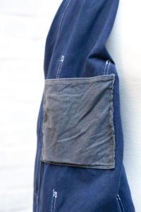 1940's french indigo linen chore jackets