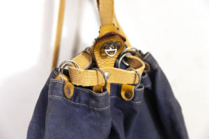 1950's small Lafuma indigo backpack, lemagasin, le magasin, vintage clothing, antique clothing, frenchworkwear, french workwear