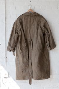 Late 30's french army kakhi linen coat