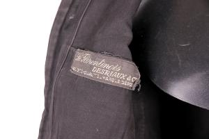 1930's french black moleskin work chore jacket, Le Magasin, lemagasin, antique workwear, french workwear,moleskin