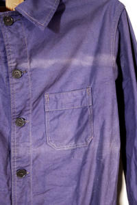 1950's french indigo linen chore jacket