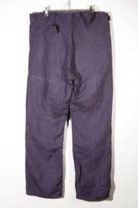 1930's deadstock belgian miner indigo linen pants