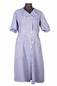 Robe de travail en lin années 30, Le Magasin, lemagasin, antique, vintage, french workwear