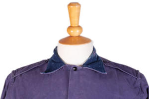 1950's french army air force indigo linen shirt, lemagasin, le magasin